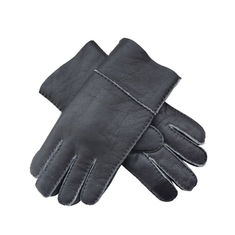 Sheepskin Mens Leather Smart Gloves , Winter Mens Lined Leather Gloves