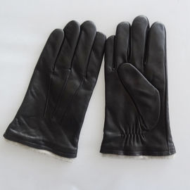 Plain Mens Soft Leather Gloves Customized Size Custom Styles Eco - Friendly