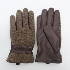 Comfortable Mens Soft Leather Gloves Silk Lining With Custom Styles