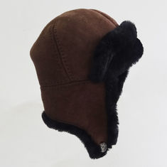 Trapper Winter Sheepskin Hats Unisex Plush Plain Custom Winter Hat