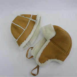 Hot sale Plain Pattern Shearling leather Hat the couple sheepskin hat