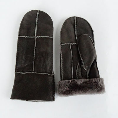 Double Faced Winter Mitten Shearling Sheepskin Gloves
